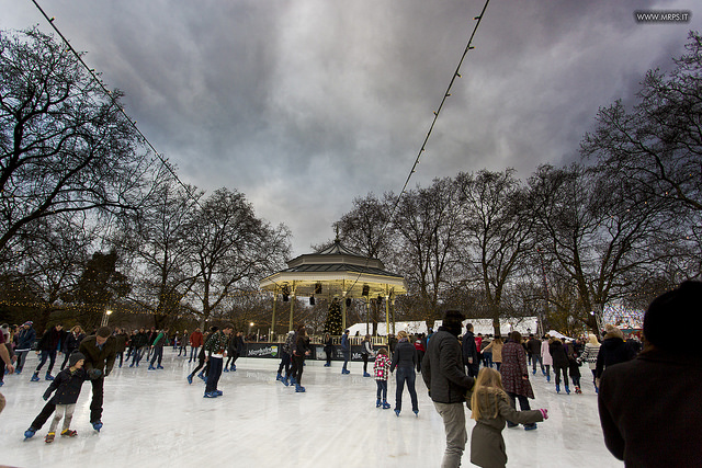 Ice-skating in Hyde Park